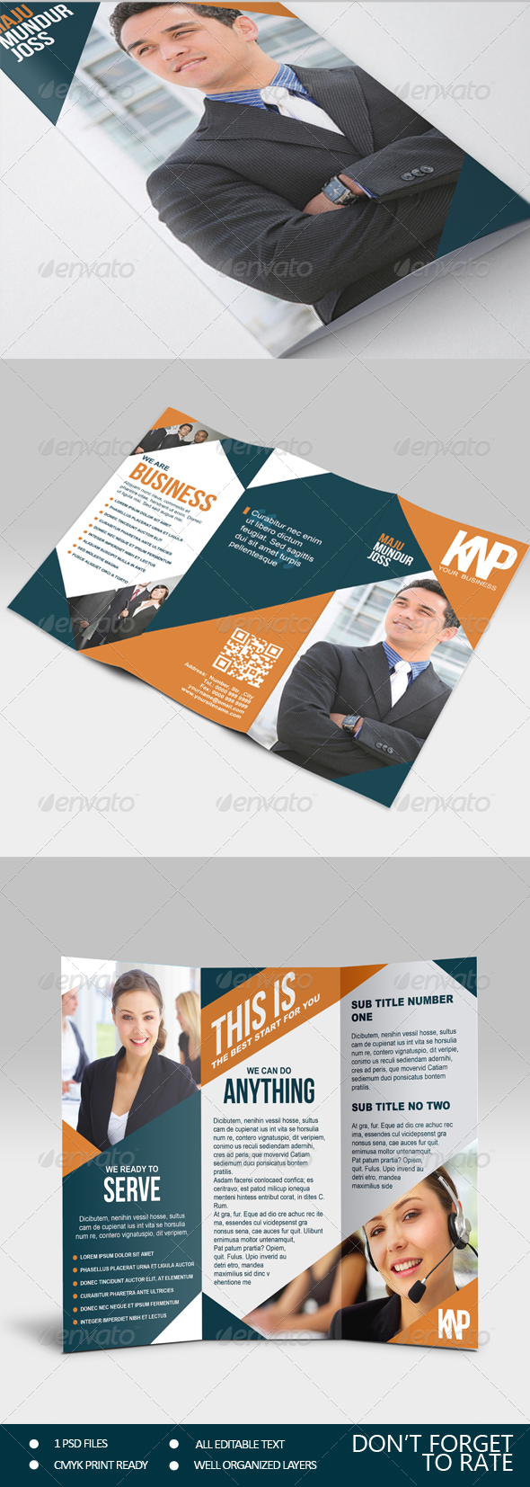 GraphicRiver KNP Multipurpose Trifold Brochure 6951651