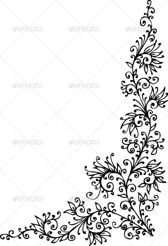 GraphicRiver Floral Vignette CCCXLVIII 6951800