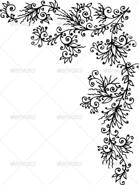 GraphicRiver Floral Vignette CCCL 6951807
