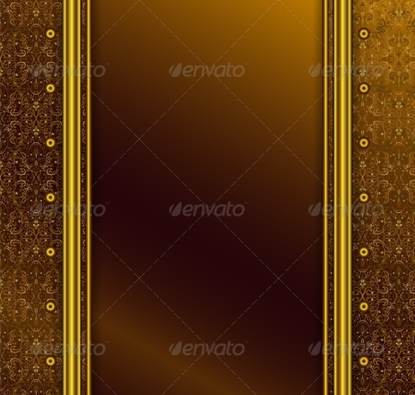 GraphicRiver Vintage Seamless Wallpaper with a Ribbon 6951905