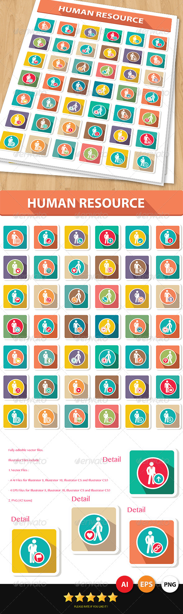GraphicRiver 42 Human Resource Icons 6952098