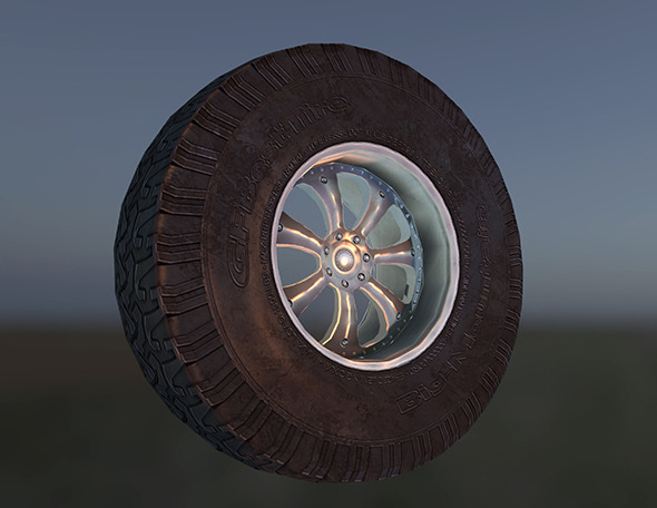 Low poly Next Gen car wheel. - 3DOcean Item for Sale