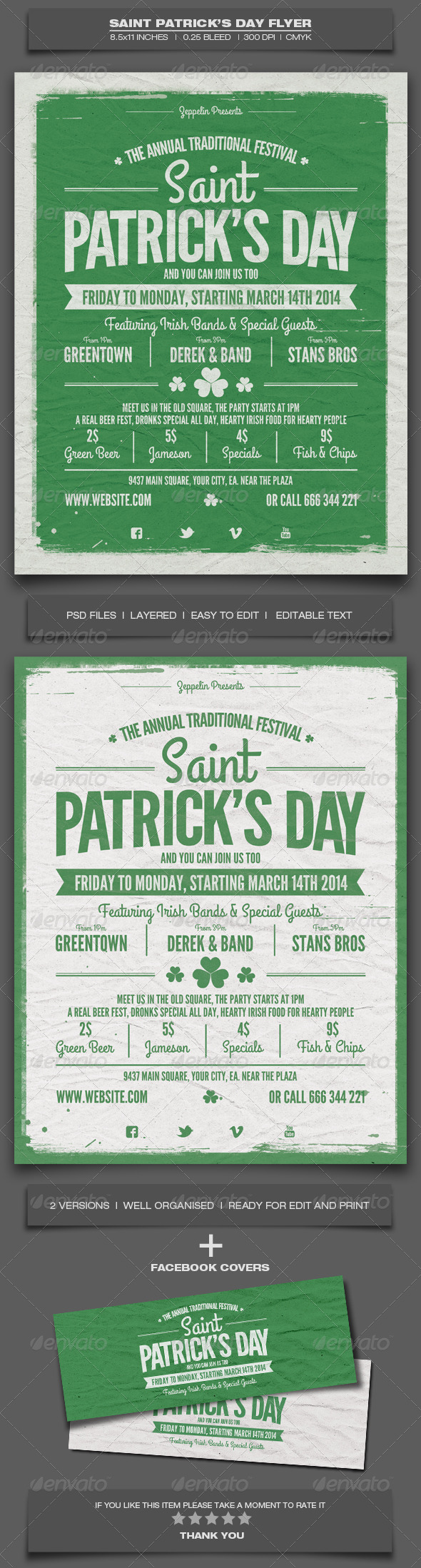 GraphicRiver Saint Patrick s Day Flyer Template 6952780