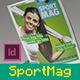 SportMag InDesign Magazine Template - GraphicRiver Item for Sale
