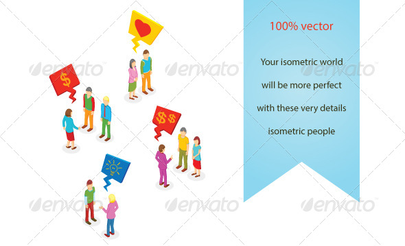 GraphicRiver Isometric People Collection 6952827