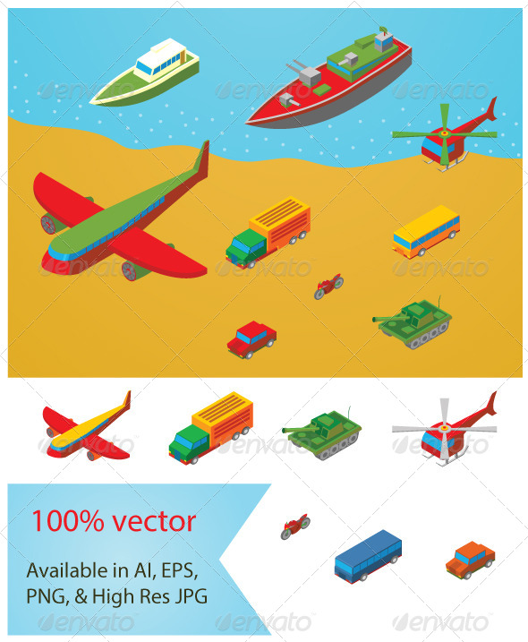 GraphicRiver Isometric Transportation Collection 6952846