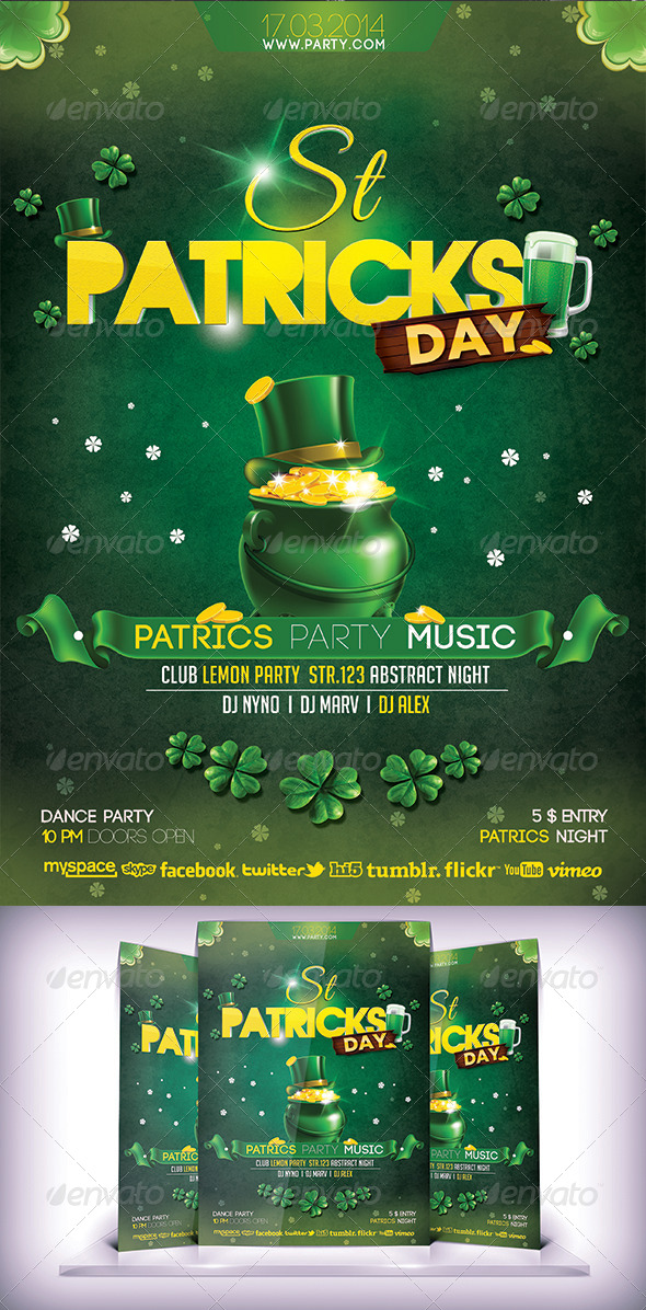 St Patrick Day Flyer - Holidays Events