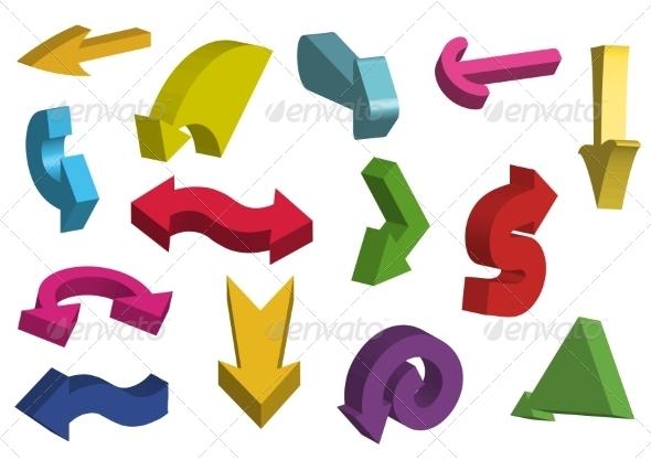 GraphicRiver 3D Arrows 6952934