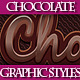 Set of Beautiful Dark Chocolate Graphic Styles - GraphicRiver Item for Sale