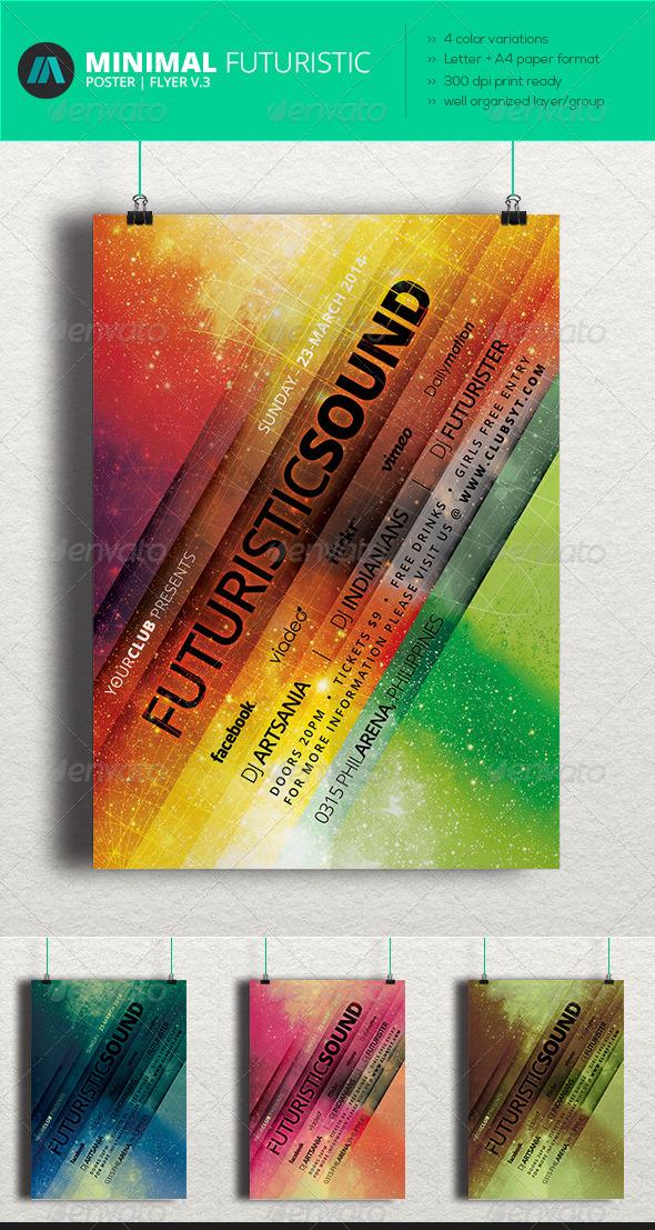 GraphicRiver Minimal Futuristic Poster Flyer V.3 6953367