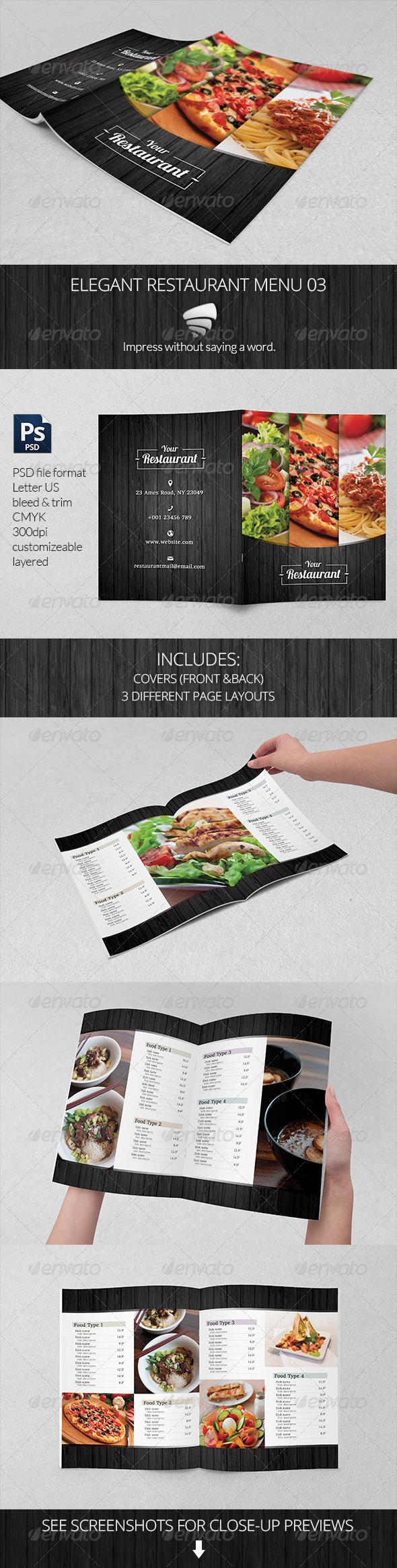 GraphicRiver Elegant Restaurant Menu 03 6953680