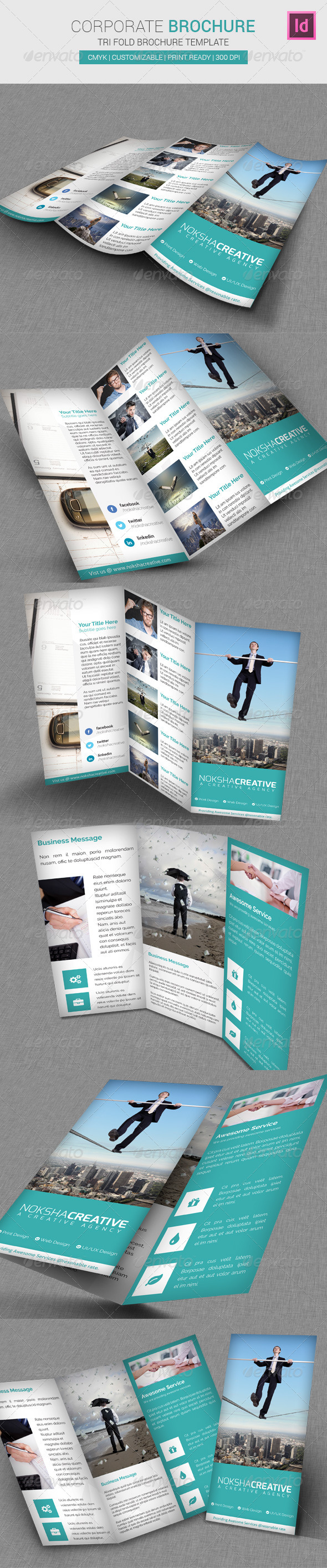 GraphicRiver Corporate Tri-Fold Brochure 6953805