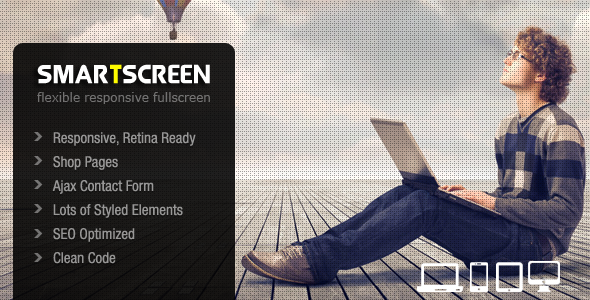 SmartScreen - Fullscreen Responsive HTML Template - Photography Creative