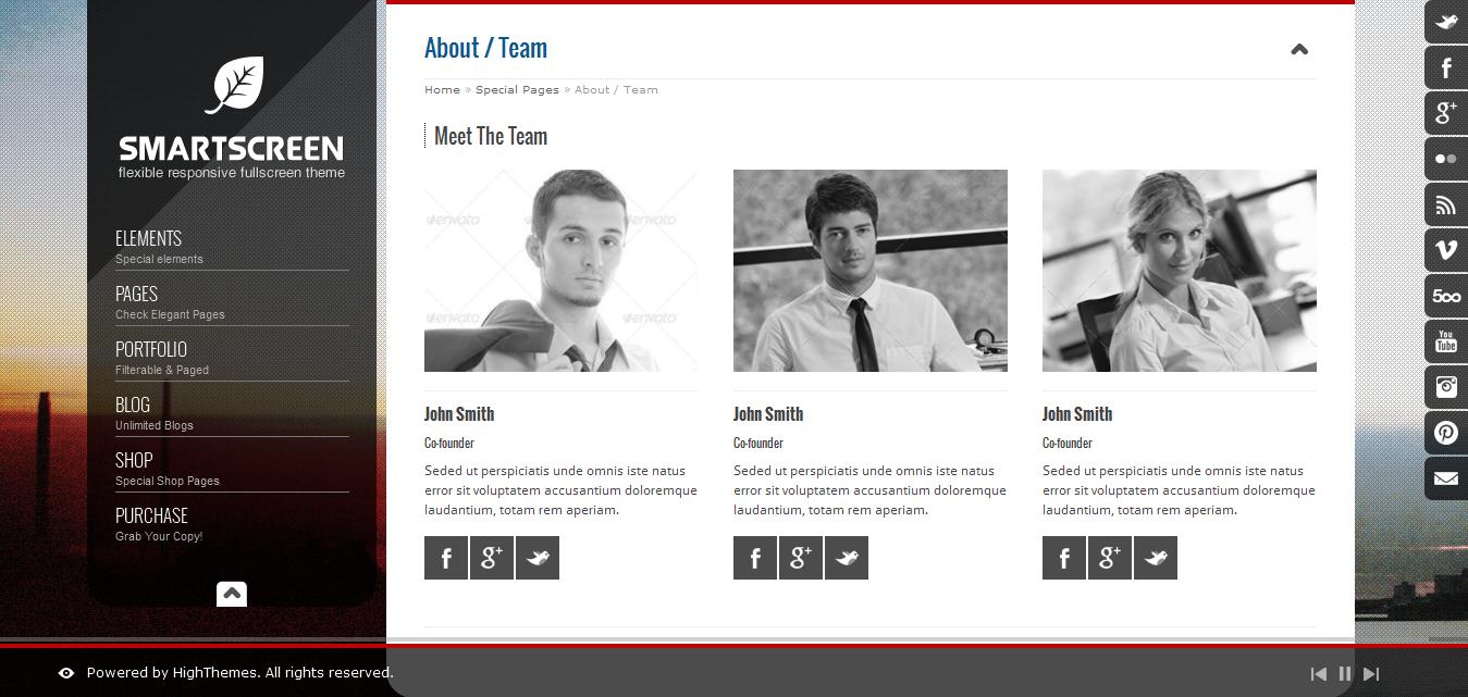 SmartScreen - Fullscreen Responsive HTML Template