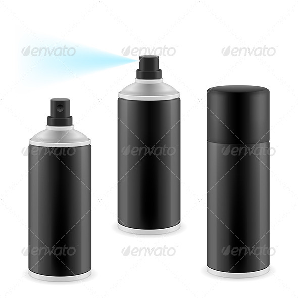 GraphicRiver Black Spray Cans 6954324