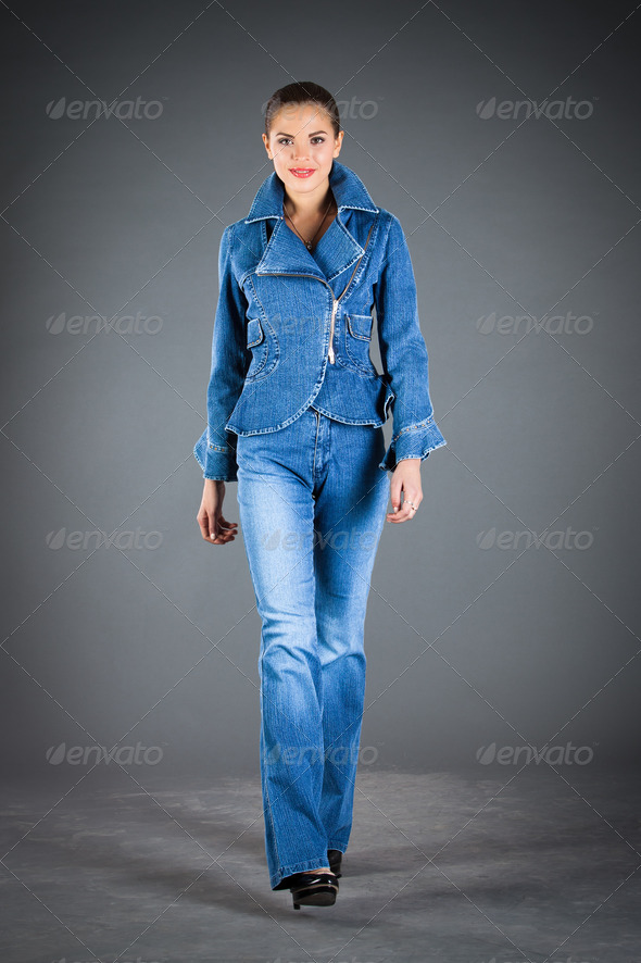 jeans collection clothes - Stock Photo - Images