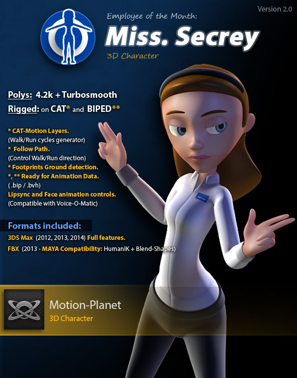 Miss Secrey - 3DOcean Item for Sale