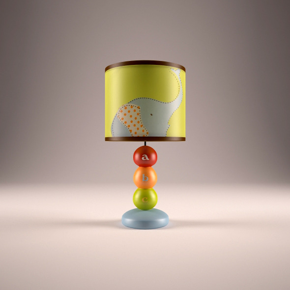 Kid lamp - 3DOcean Item for Sale