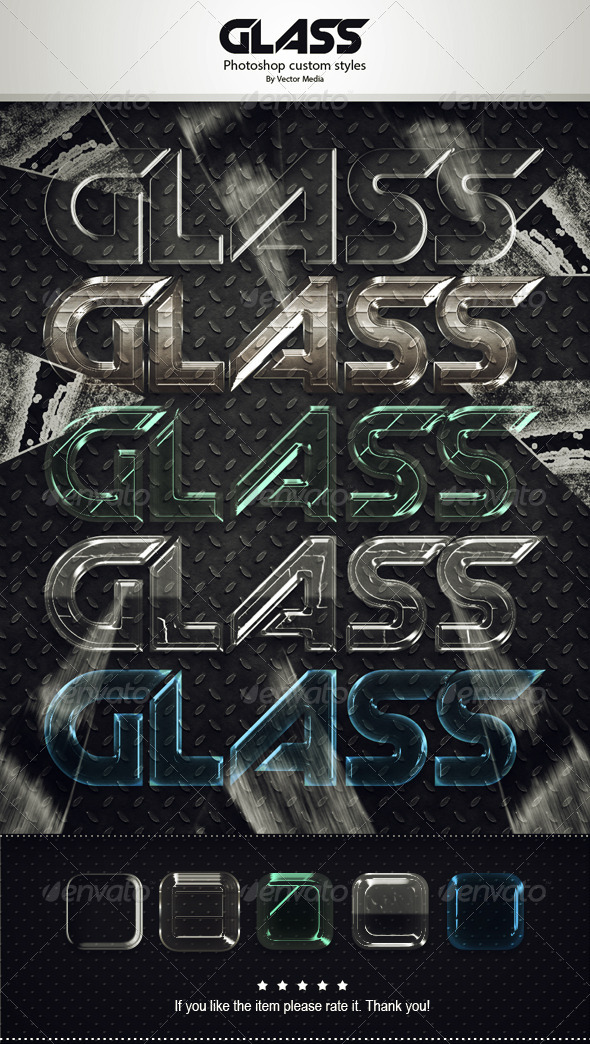 GraphicRiver Glass Styles 6955438