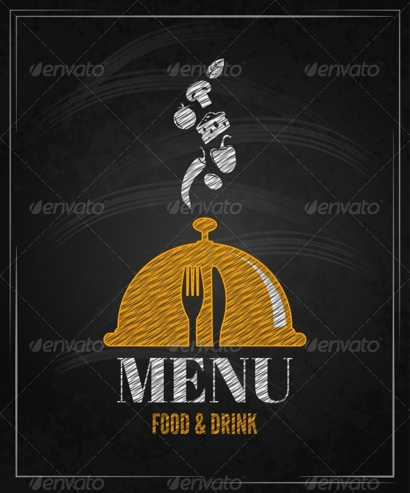 Menu Board Chalk Design Background