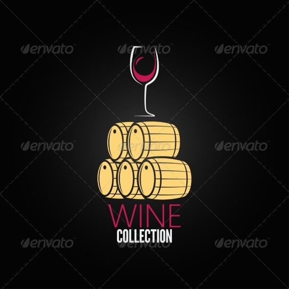GraphicRiver Wine Glass Cellar Barrel Design Background 6955803