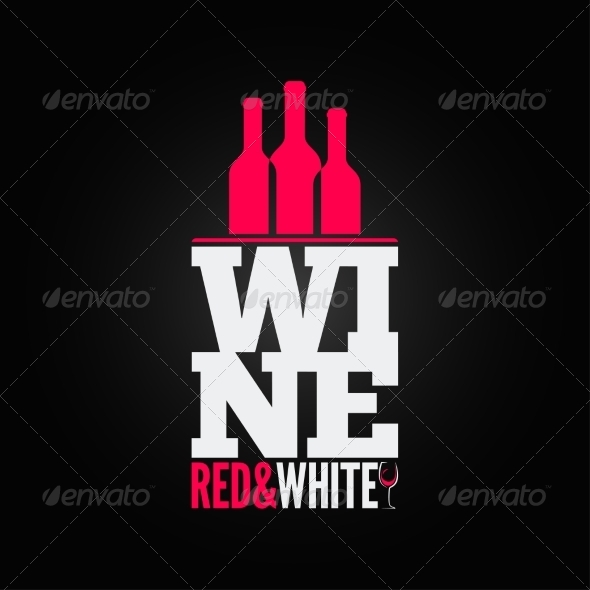 Wine Bottle Glass Design Menu Background