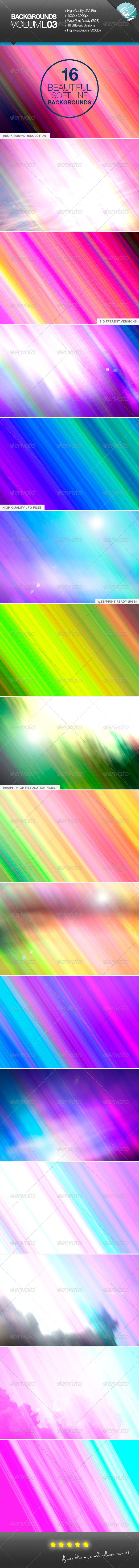 GraphicRiver Backgrounds Volume03 Soft-Lines 6949071