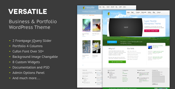 Versatile Premium Corporate & Portfolio WP Theme