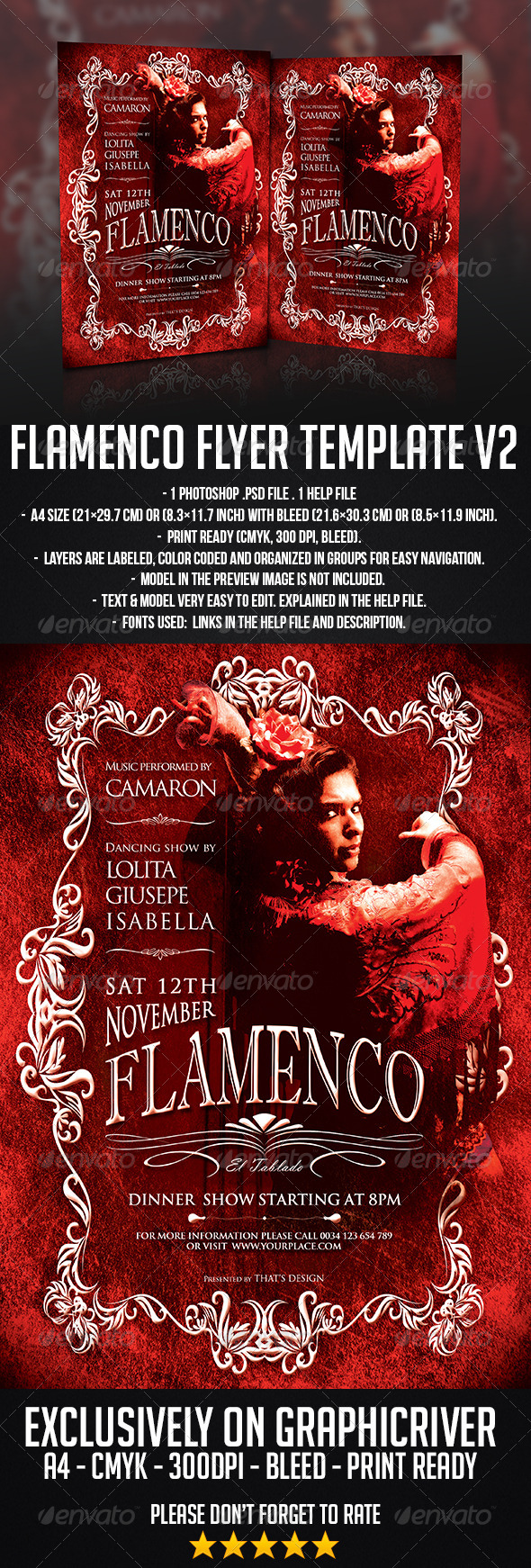 GraphicRiver Flamenco Flyer Template V2 6957683