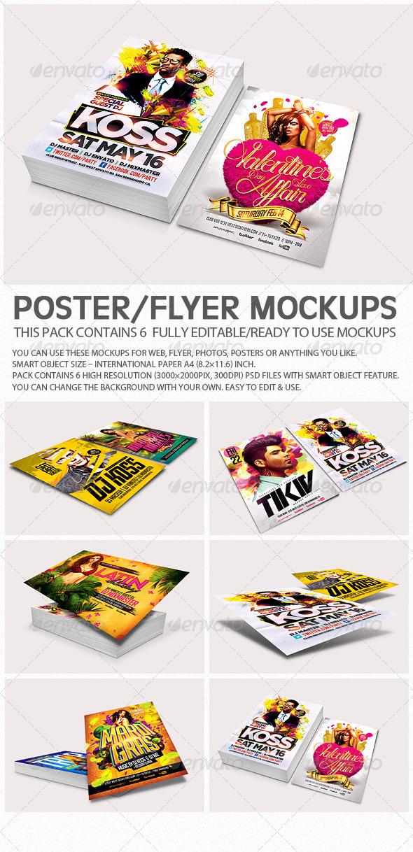 Flyer Poster Mockups V3 - Flyers Print