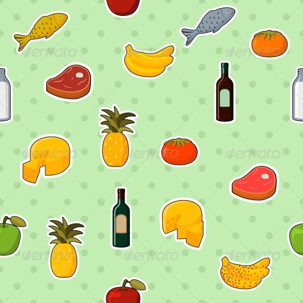 GraphicRiver Supermarket Foods Seamless Pattern 6957827