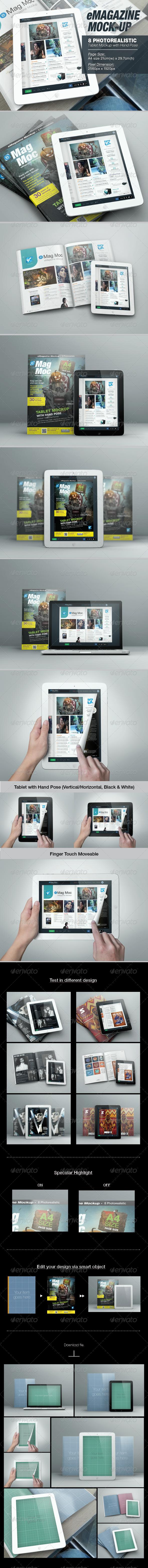 GraphicRiver eMagazine Mock-up 6957906