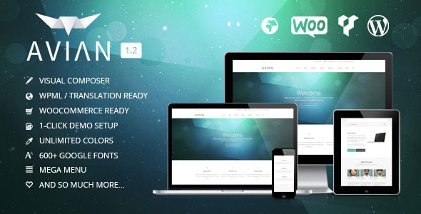 Avian | Responsive Multi-Purpose Theme