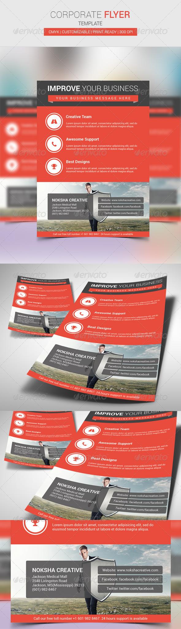 GraphicRiver Corporate Flyer 6958080