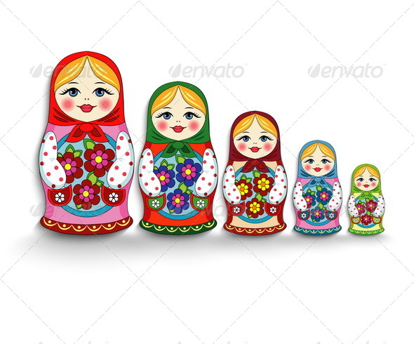 GraphicRiver Russian Doll Matryoshka 6958175