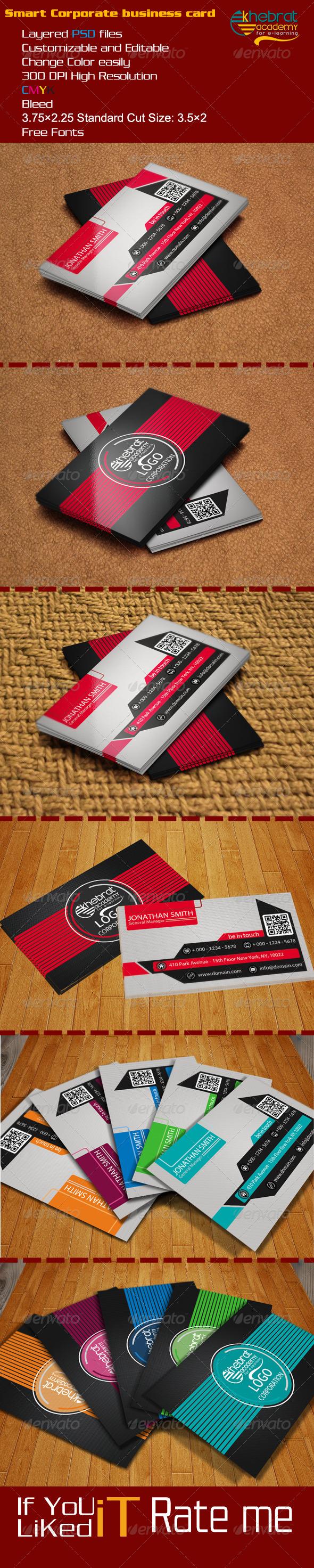GraphicRiver Smart Corporate business card 6958230