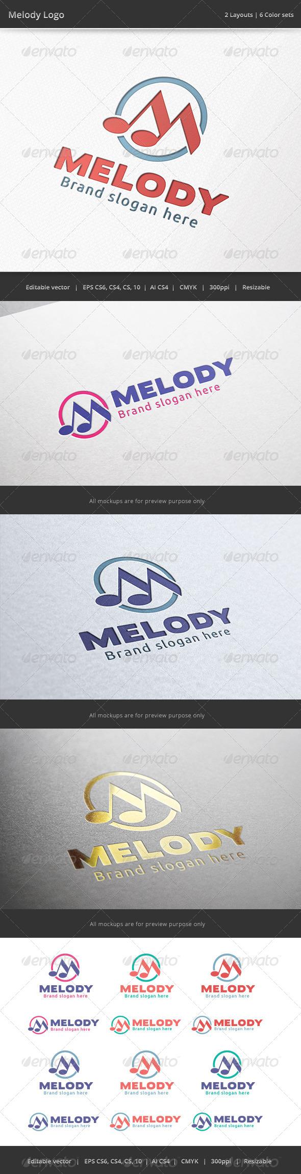GraphicRiver Melody Music Logo 6958391
