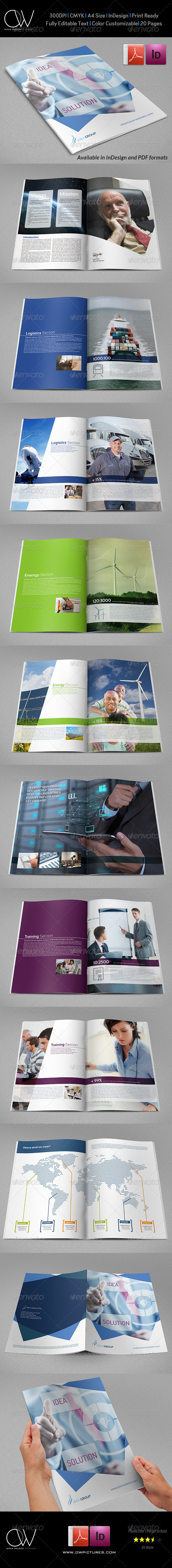 GraphicRiver Corporate Brochure Template Vol.28 20 Pages 6958442