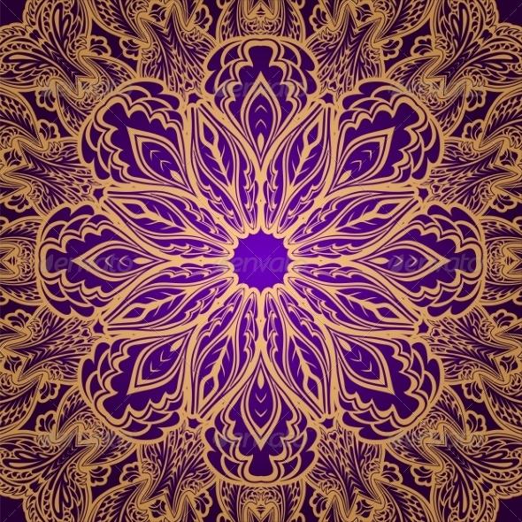 GraphicRiver Gold Lace Ornament 6958582