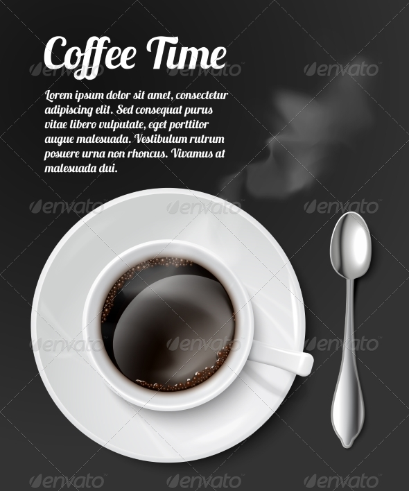 GraphicRiver Print with Realistic Coffee Cup 6958663