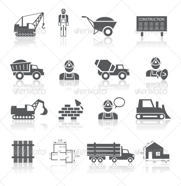 GraphicRiver Construction Pictograms Collection 6958664