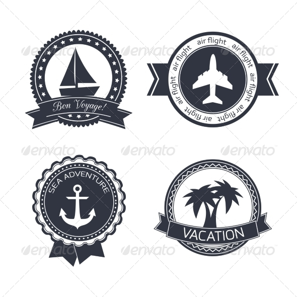 GraphicRiver Vacations Travel Stickers Set 6958668