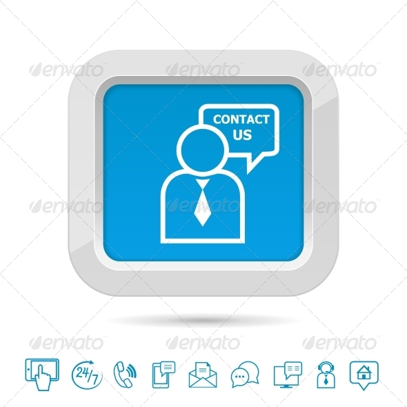 GraphicRiver Contact Us Button Template 6958676