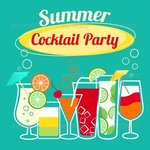 GraphicRiver Summer Cocktails Party Template 6958774