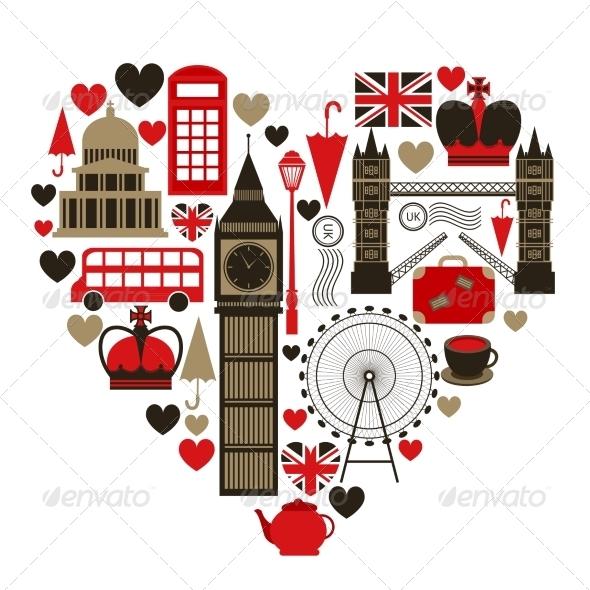GraphicRiver Love London Heart Symbol 6958778