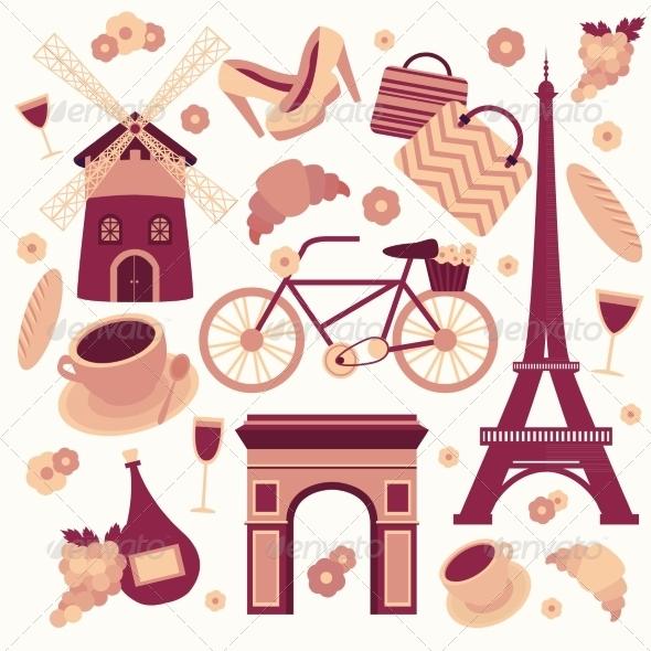 GraphicRiver Paris Symbols Collection 6958928