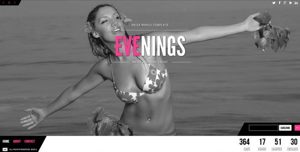 ThemeForest Evenings Responsive Coming Soon Page 6959087