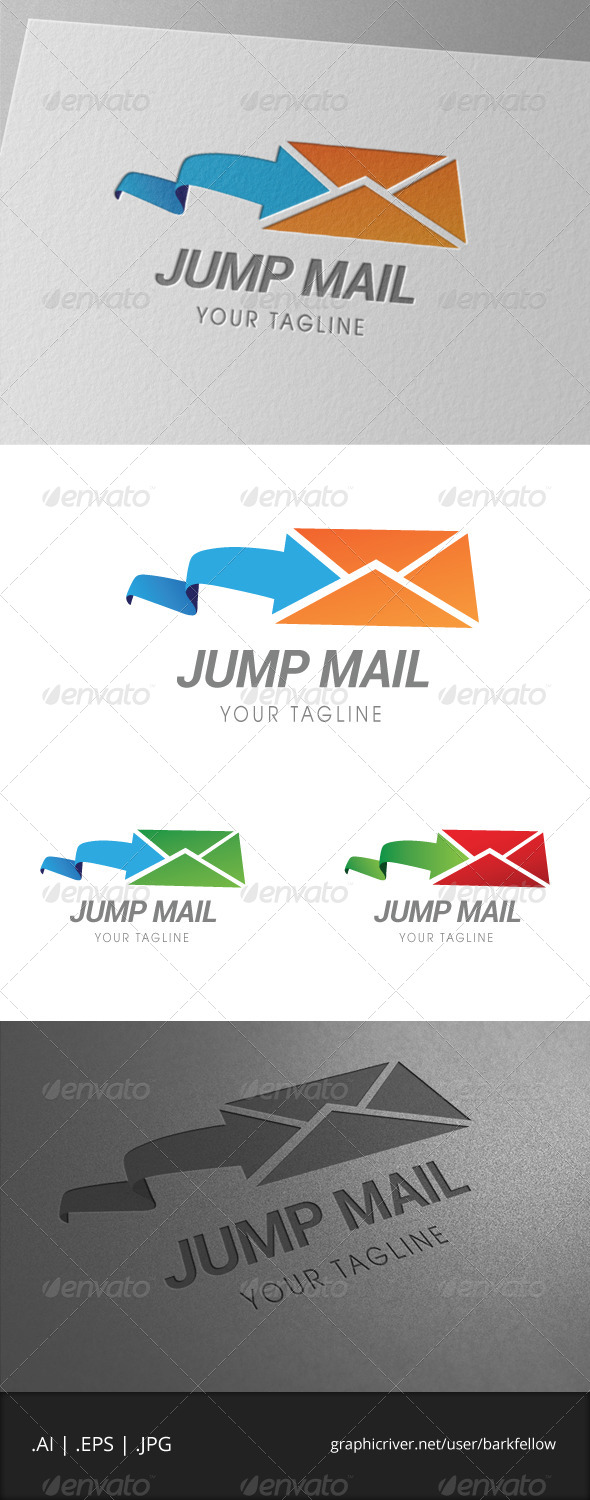 GraphicRiver Jump Mail Logo 6959254