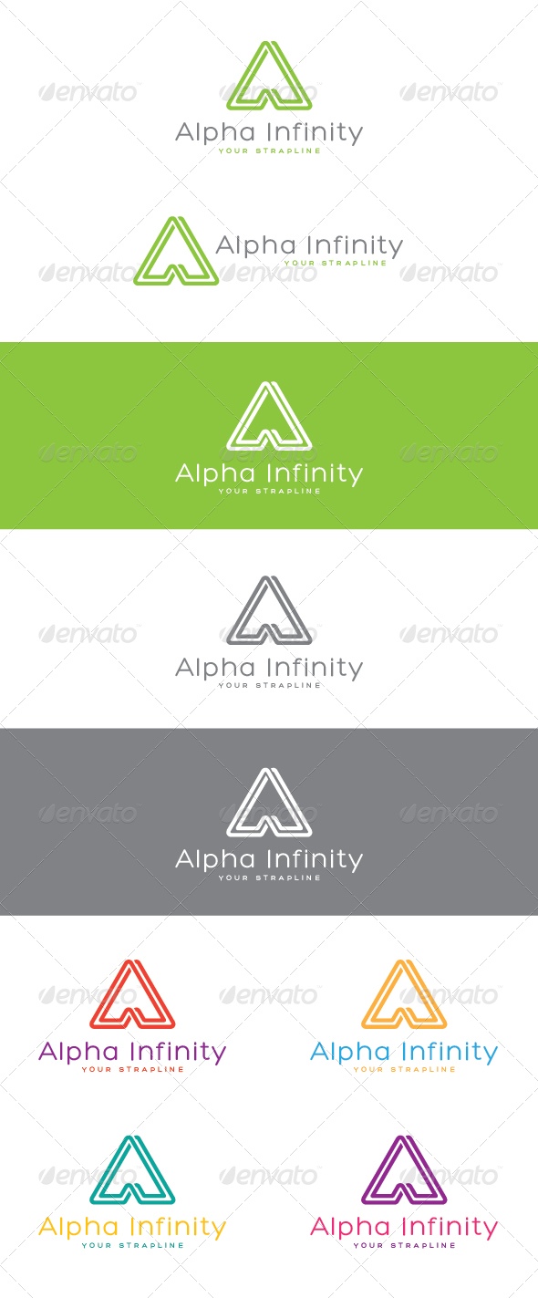 GraphicRiver Alpha Infinity Letter A Logo 6959326