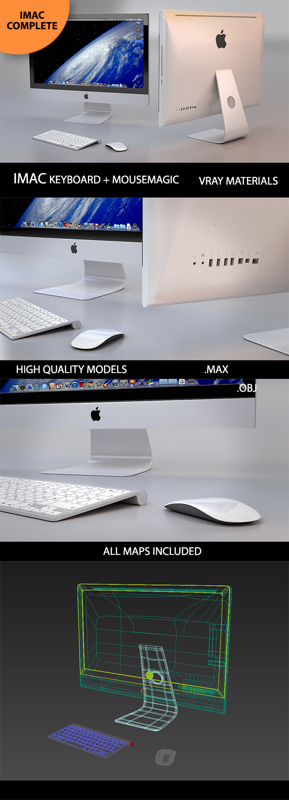 3d Imac Model - 3DOcean Item for Sale